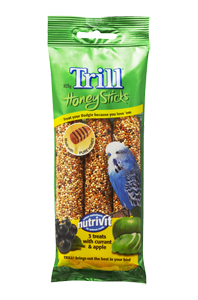 Trill Honey Sticks Budgies with Currant Apple 105g